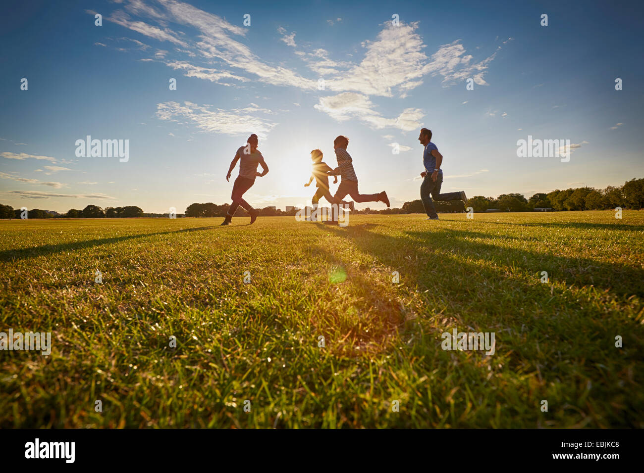 Family out in the park - Stock Image