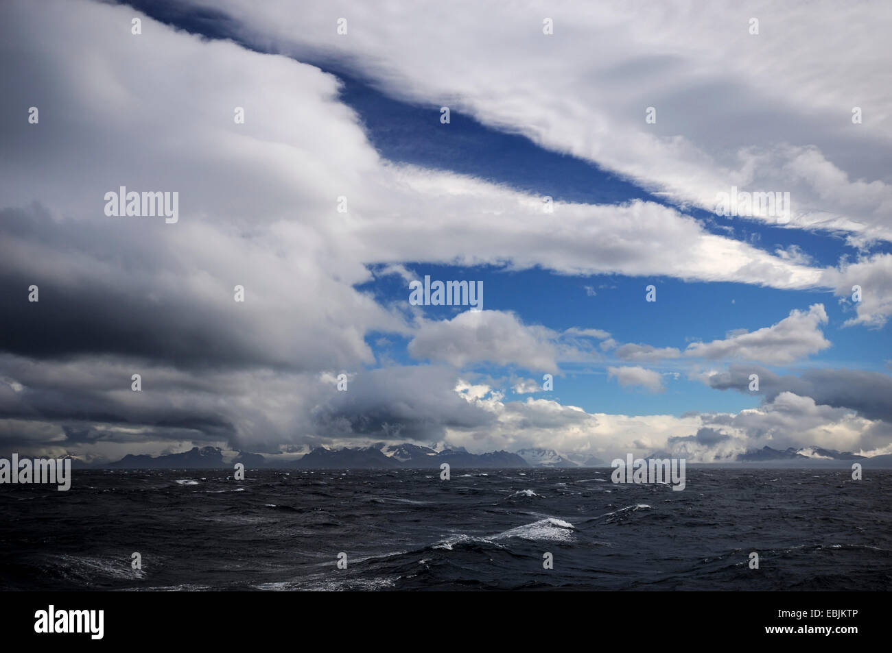 South Georgia in the Southern Ocean, Antarctica, Suedgeorgien - Stock Image