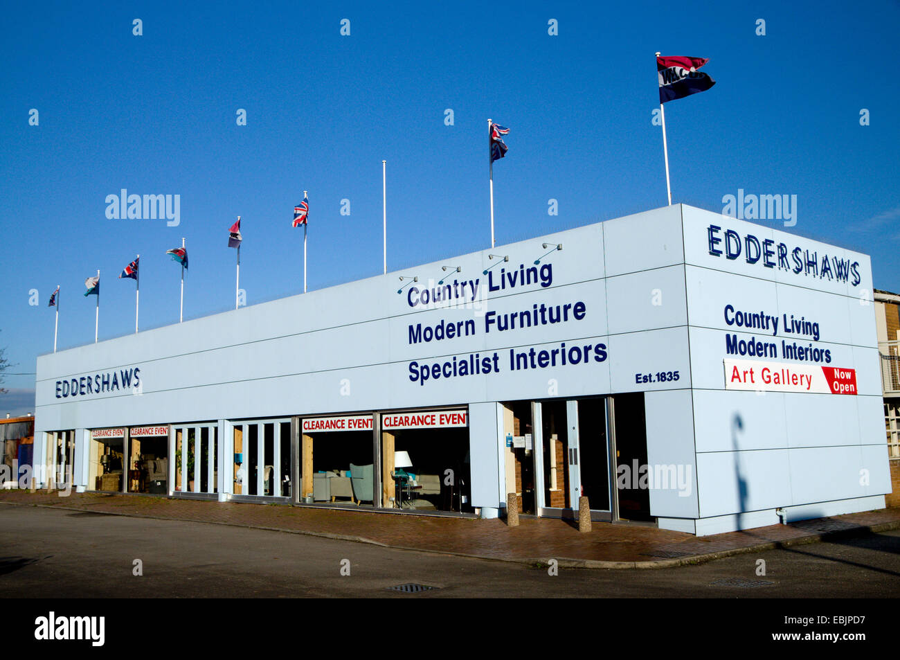Eddershaws furniture store, Hadfield Raod, Cardiff, South Wales, UK. - Stock Image