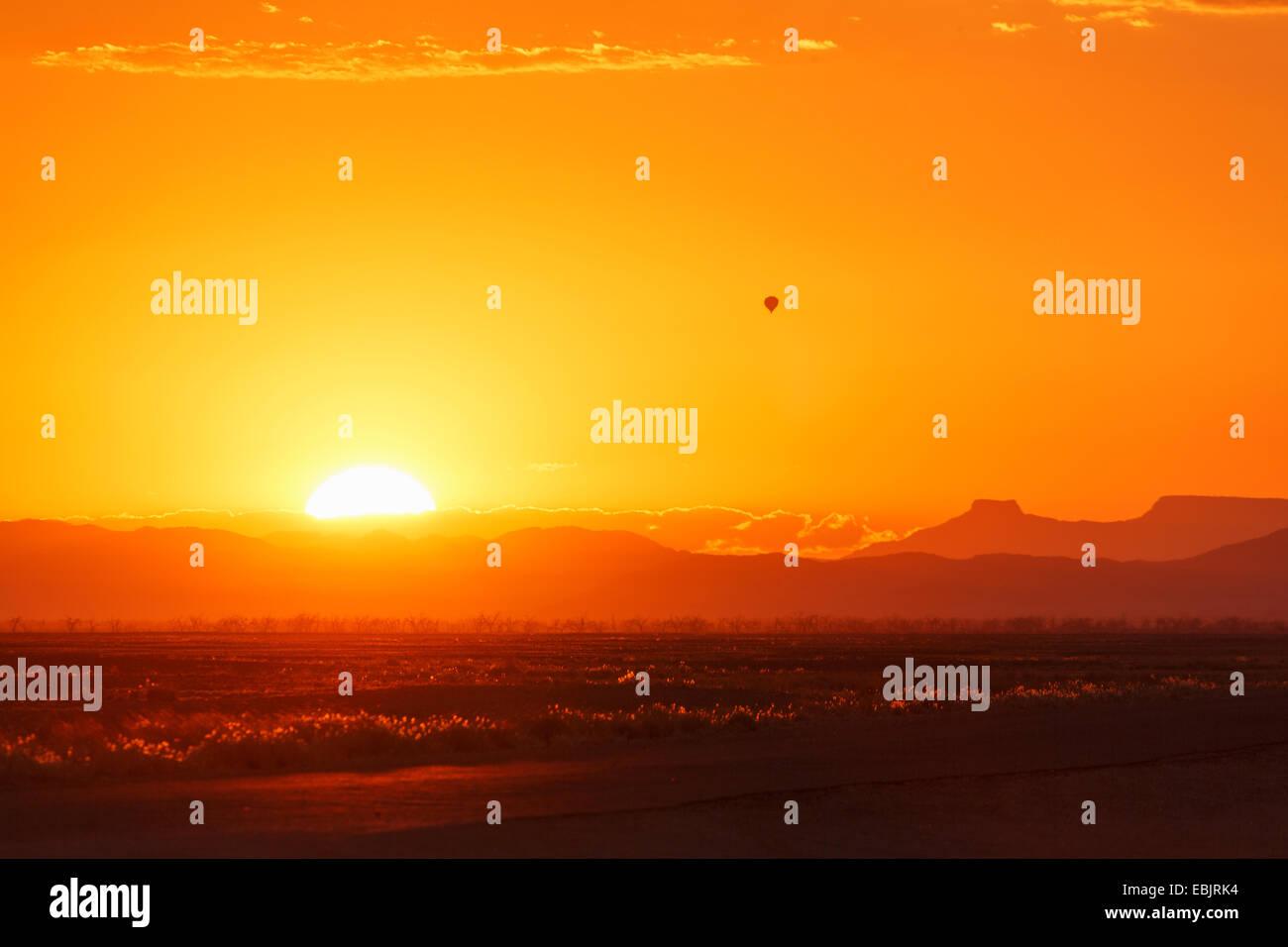 Namibian sunset - Stock Image