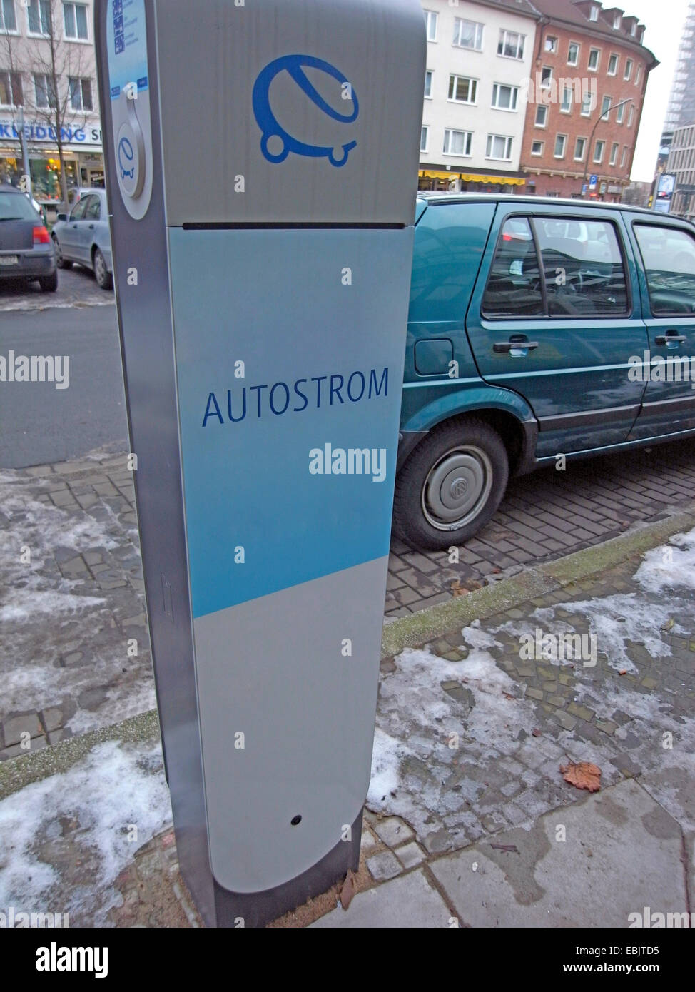 recharge station for electric cars, Germany, Ruhr Area - Stock Image