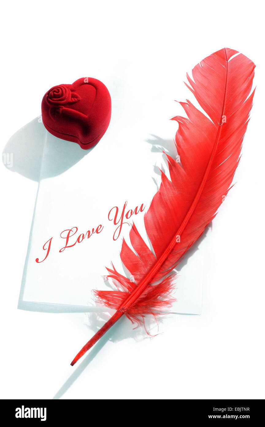 Love Letter Still Life, I Love You - Stock Image