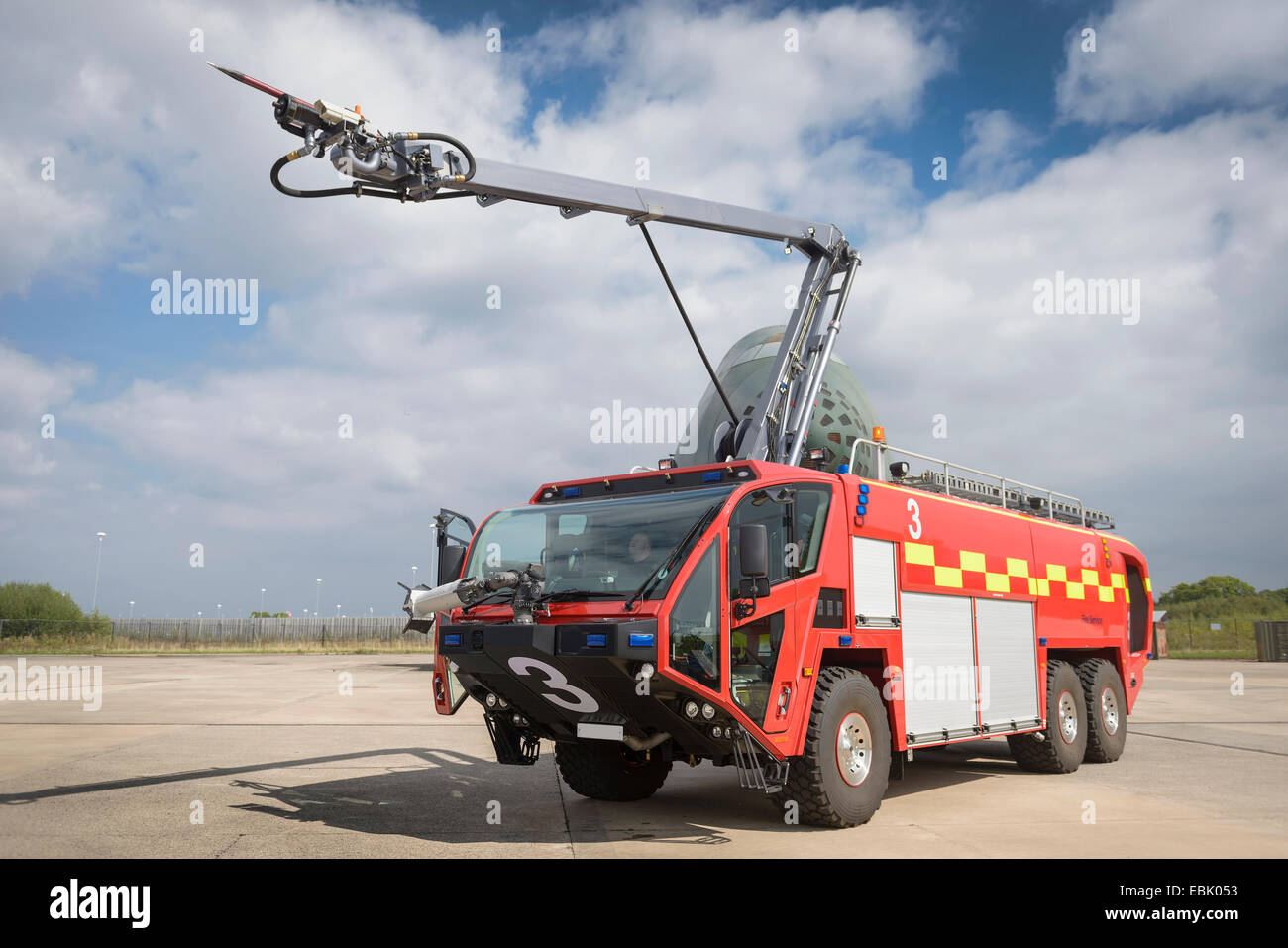 Specialist airport fire engine at training facility - Stock Image