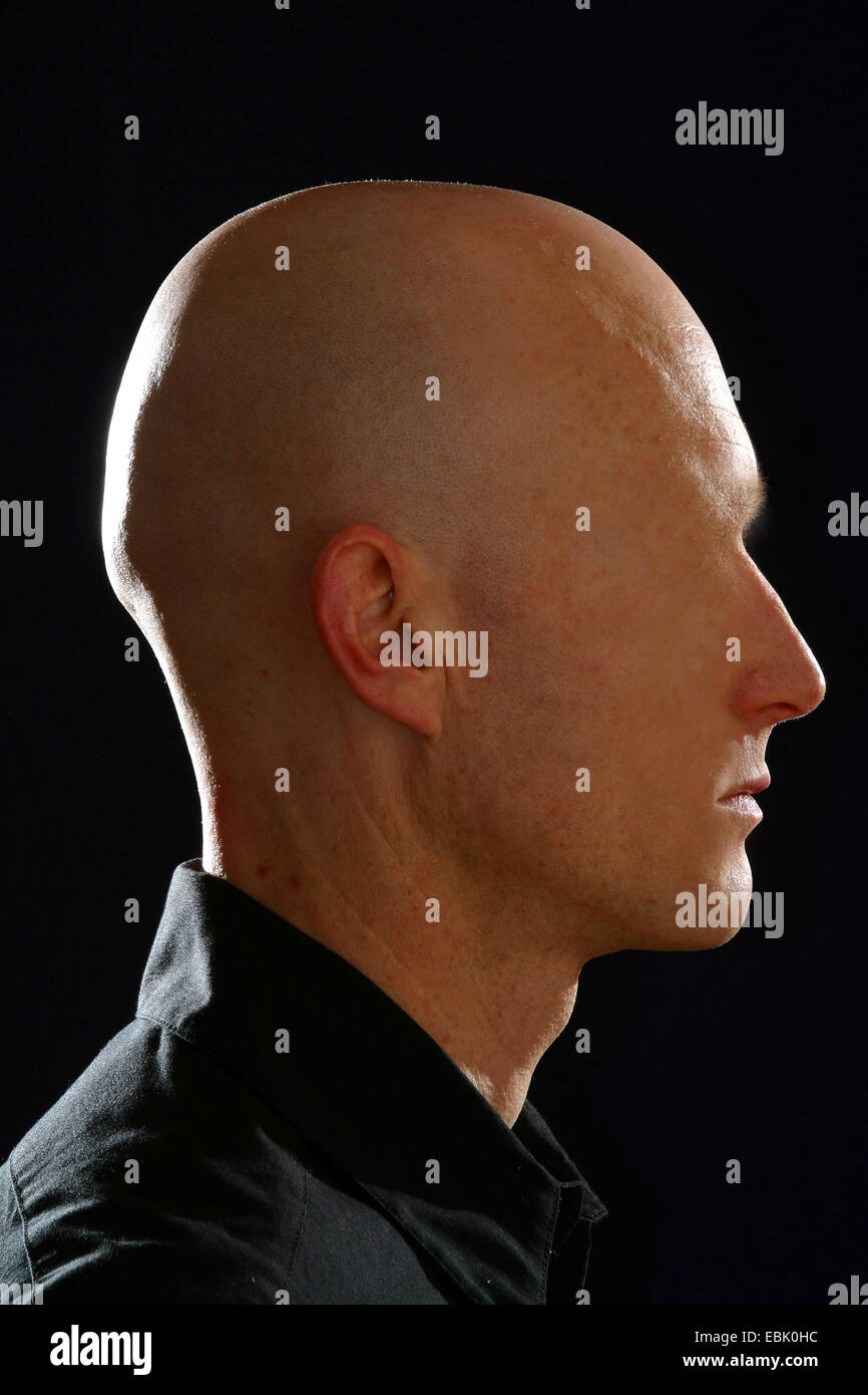 man without face - Stock Image