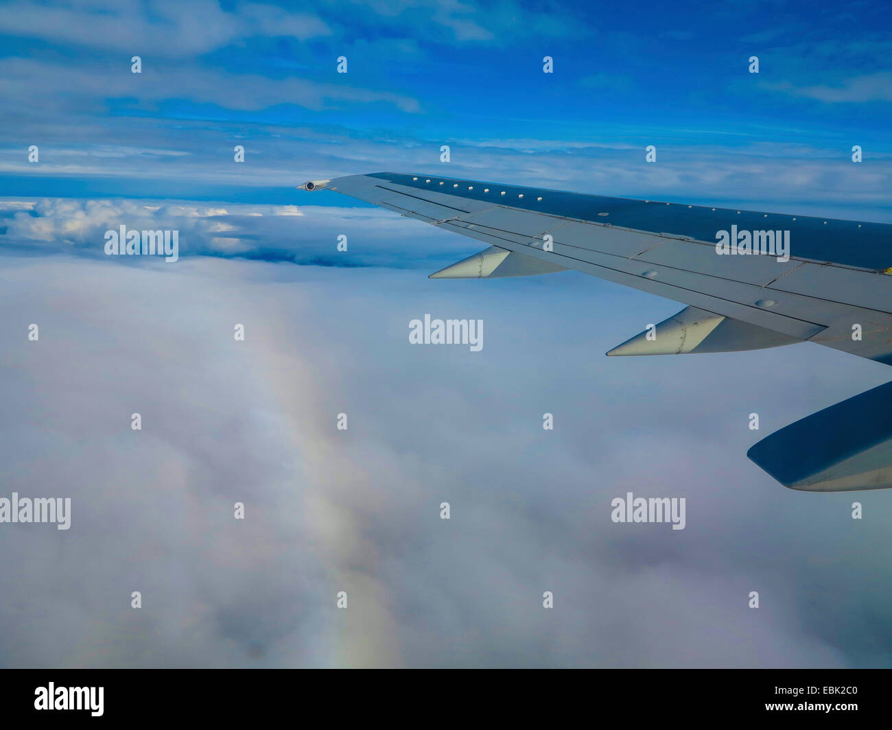 aerial view to air foil and halo, Sweden - Stock Image