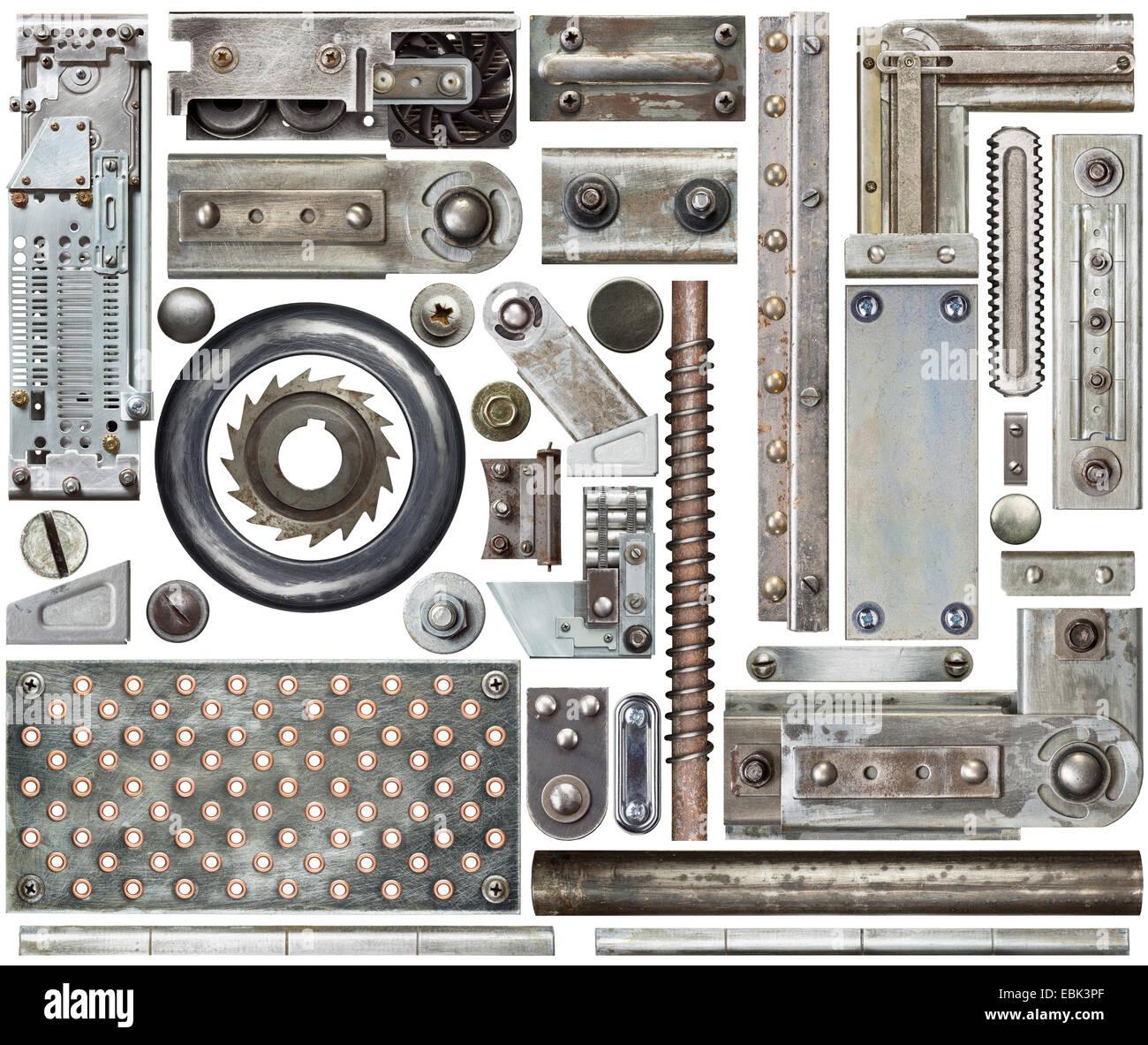 Industrial metal design elements - Stock Image