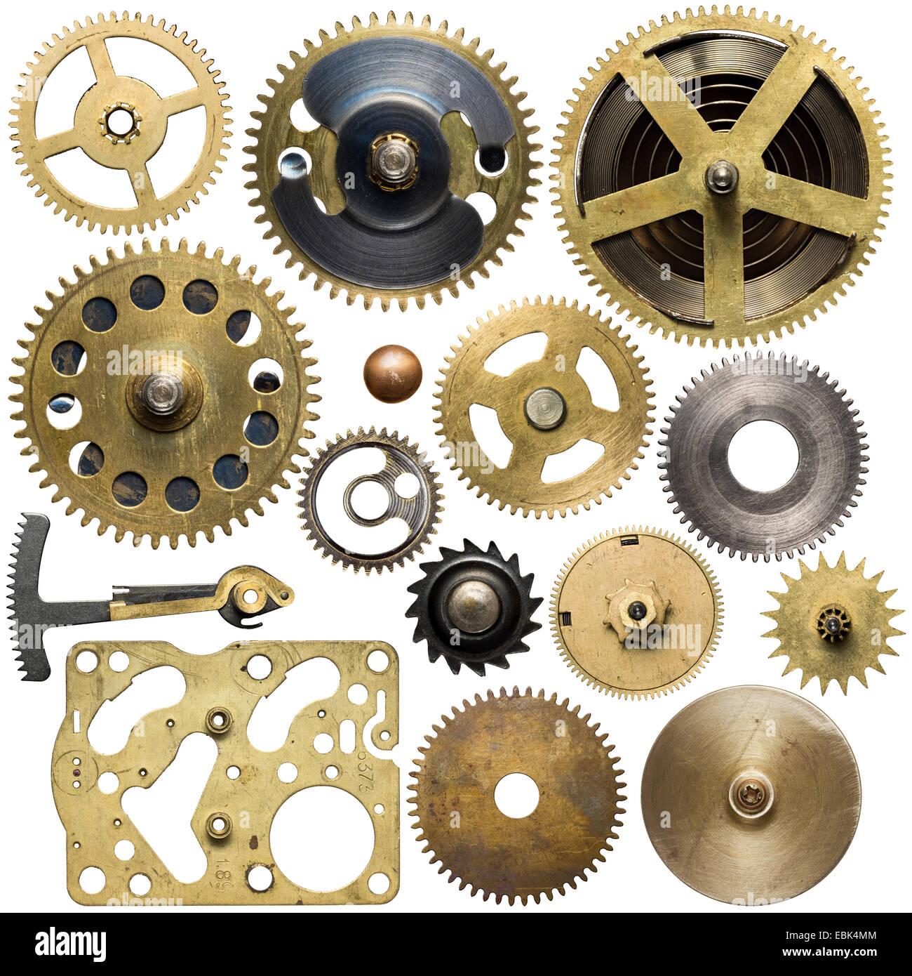 Clockwork spare parts. Metal gear, cogwheels. - Stock Image