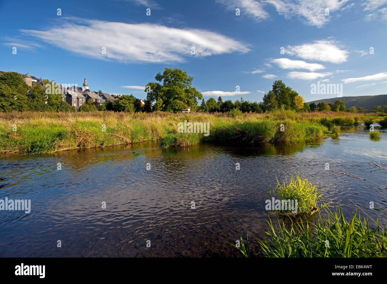 river Ruhr crossing the city, Germany, North Rhine-Westphalia, Hochsauerlandkreis, Arnsberg - Stock Image