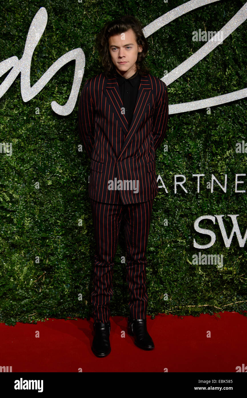 Harry Styles at The British Fashion Awards 2014, in London. - Stock Image