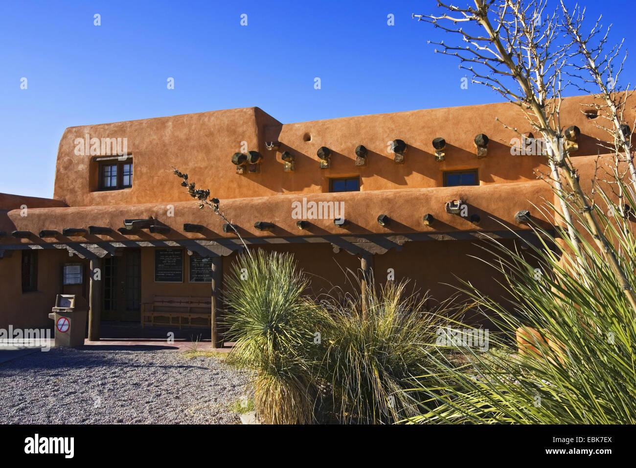 Visitor Center of White Sands National Monument, USA, New Mexico, White Sands National Monument - Stock Image