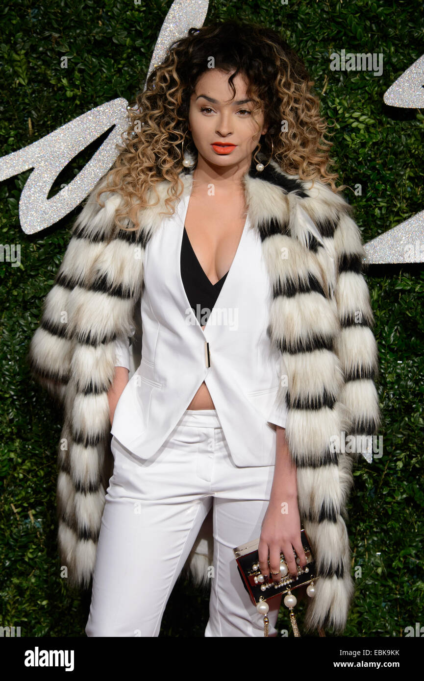 Ella Eyre at The British Fashion Awards 2014, in London. Stock Photo