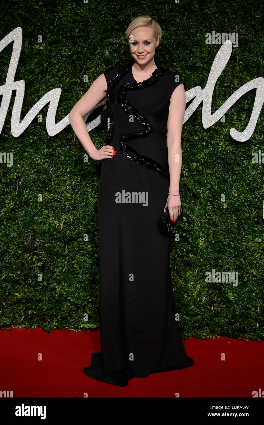 Gwendoline Christie at The British Fashion Awards 2014, in London. - Stock Image