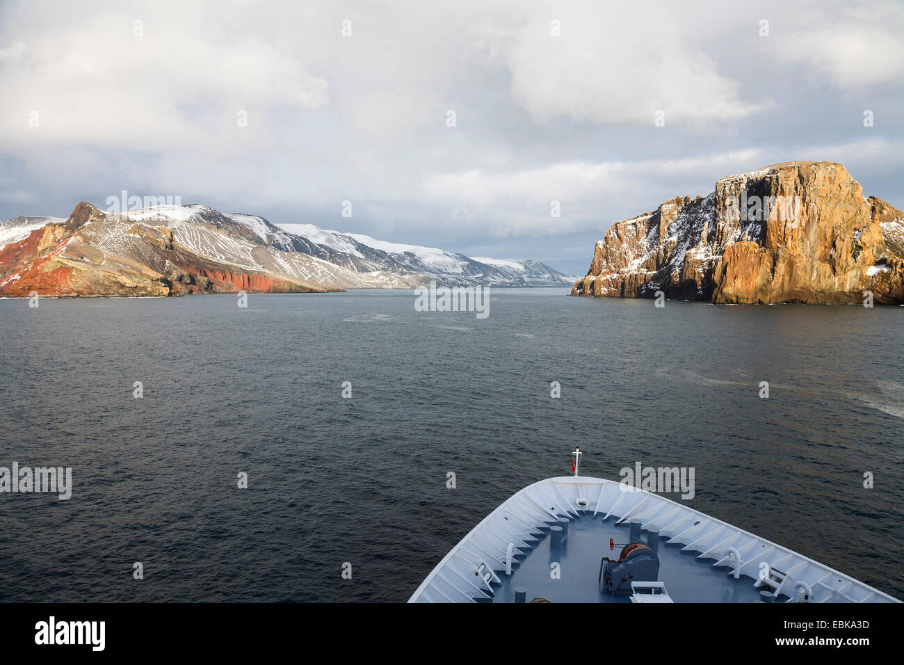 view from cruise to Deception Island, Antarctica, South Shetland Islands - Stock Image