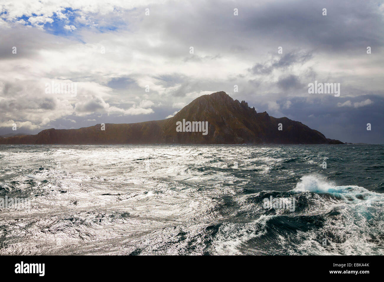 rough sea at Cape Horn, Chile, Cape Horn Island, Cape Hoorn National Park - Stock Image