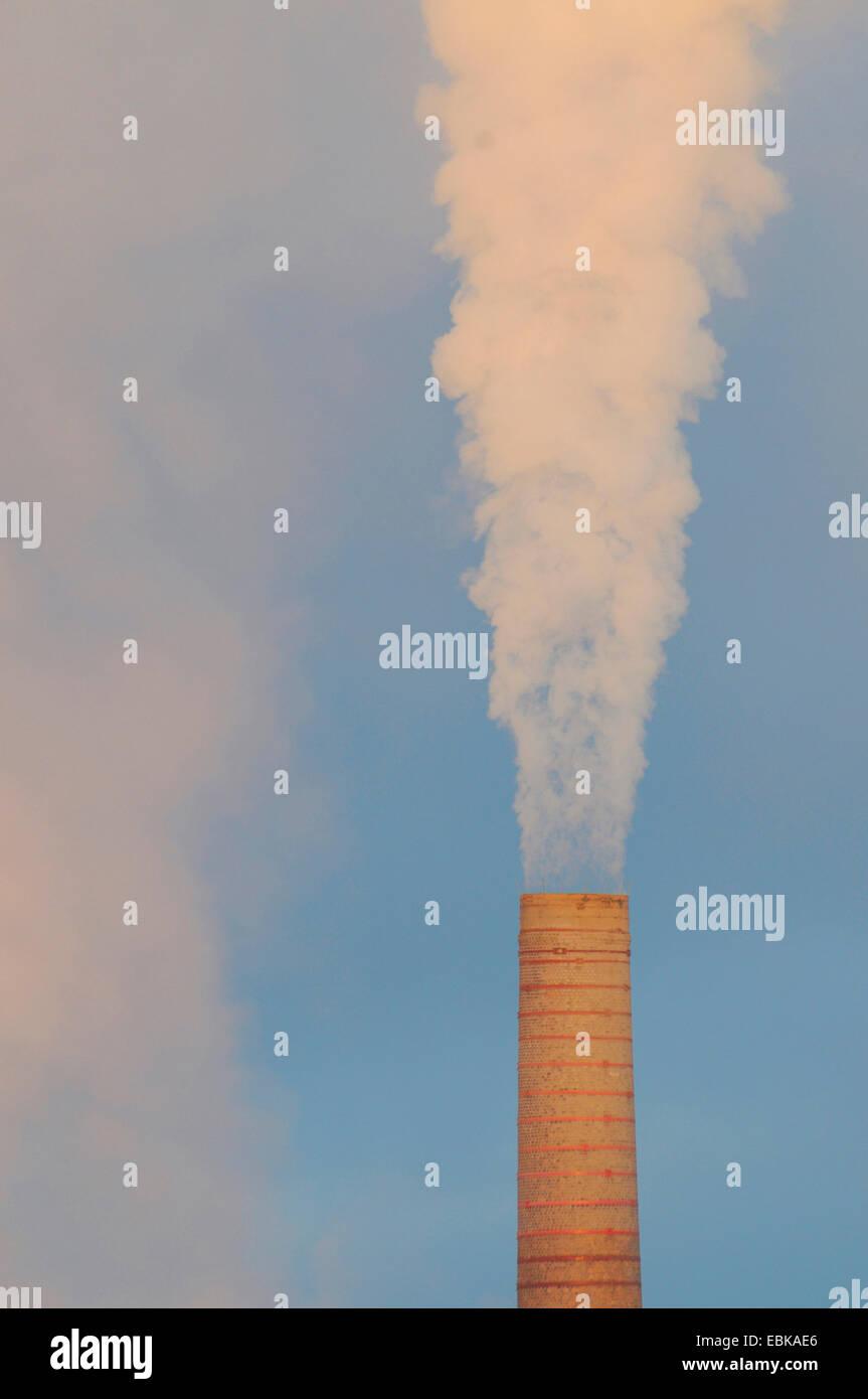 smoking chimney, Germany Stock Photo
