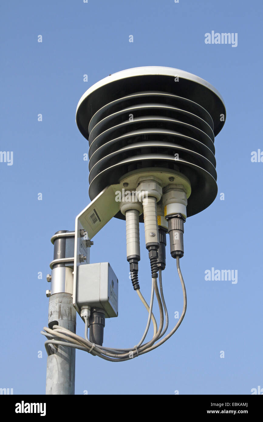 temperature sensors and air-humidity measurement, Germany - Stock Image