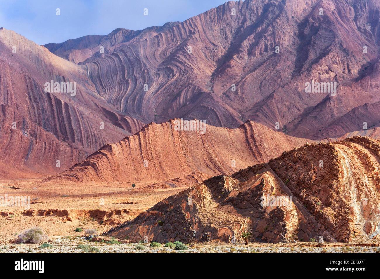 mountainsides, Morocco, Antiatlas, Tata - Stock Image