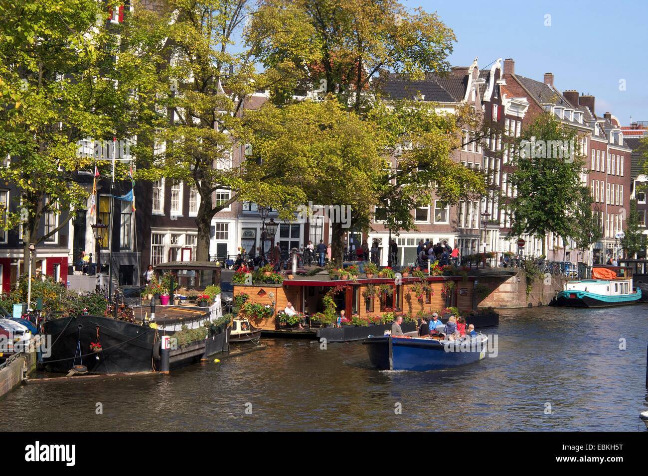 Prinsengracht canal, Amsterdam, province of North Holland, Holland, The Netherlands, Europe - Stock Image
