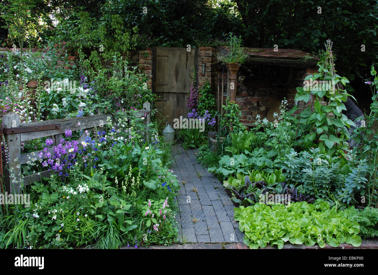 a w gardening services' 'the old gate' courtyard show garden stock