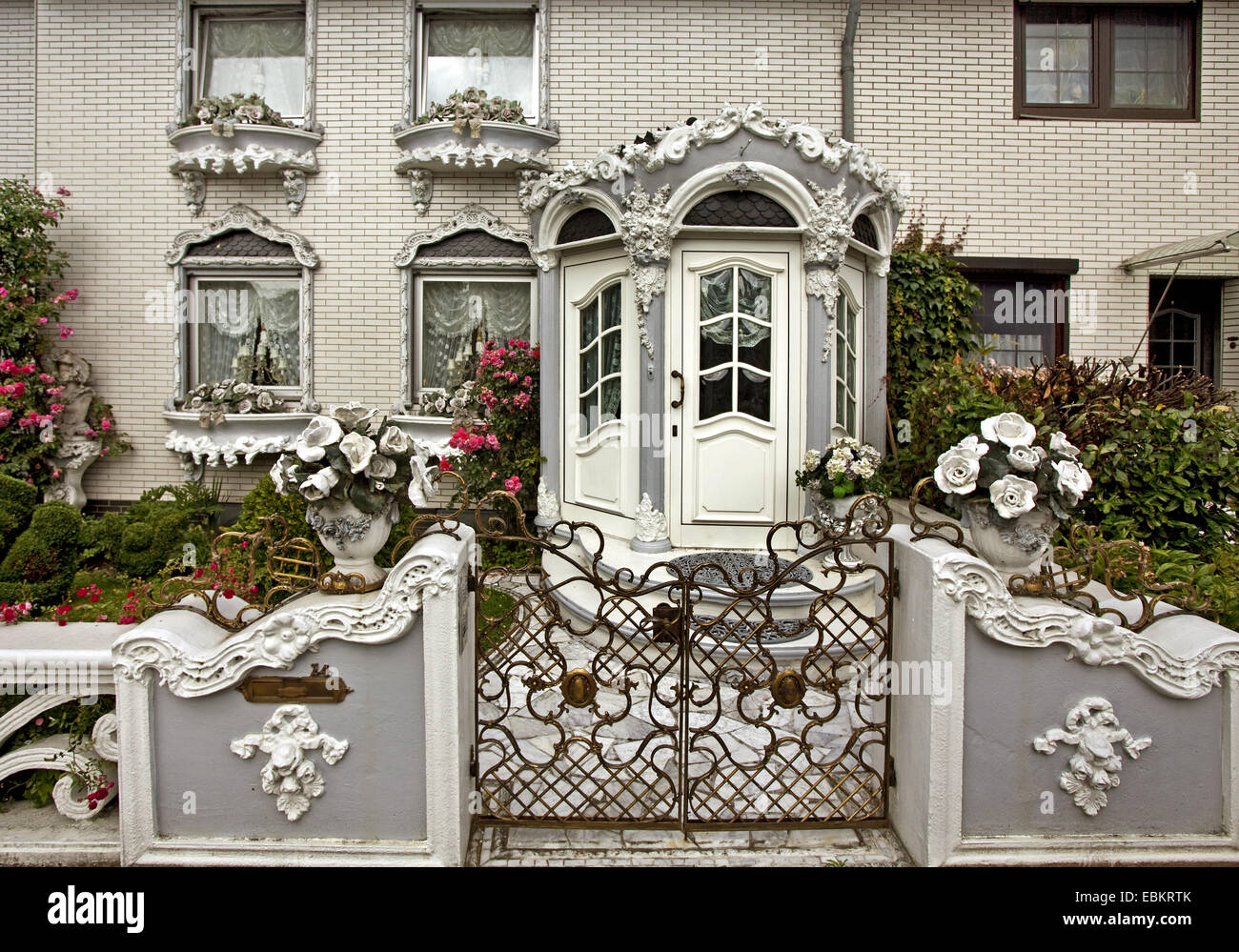 townhouse in the style of Gelsenkirchen Baroque, Germany, North Rhine-Westphalia, Ruhr Area, Gelsenkirchen - Stock Image