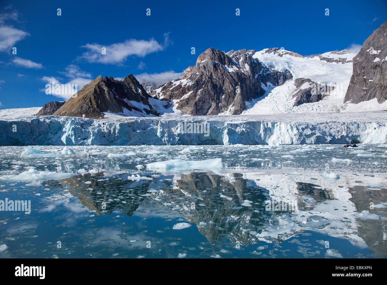 Samarinbreen glacier, Norway, Svalbard, Samarinvagen - Stock Image