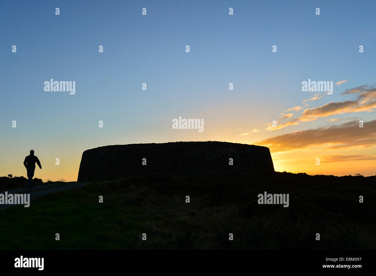 North West Donegal, Ireland. 2nd December 2014. Irish weather: Grianan of Aileach, an ancient stone fort in Donegal, - Stock Image