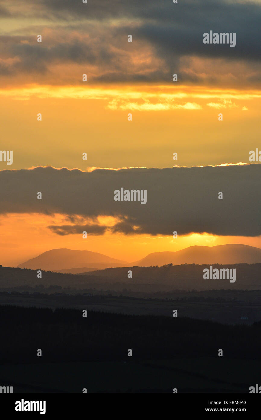 North West Donegal, Ireland. 2nd December 2014. Irish weather: Inishowen, County Donegal at sunset. Credit:  George - Stock Image