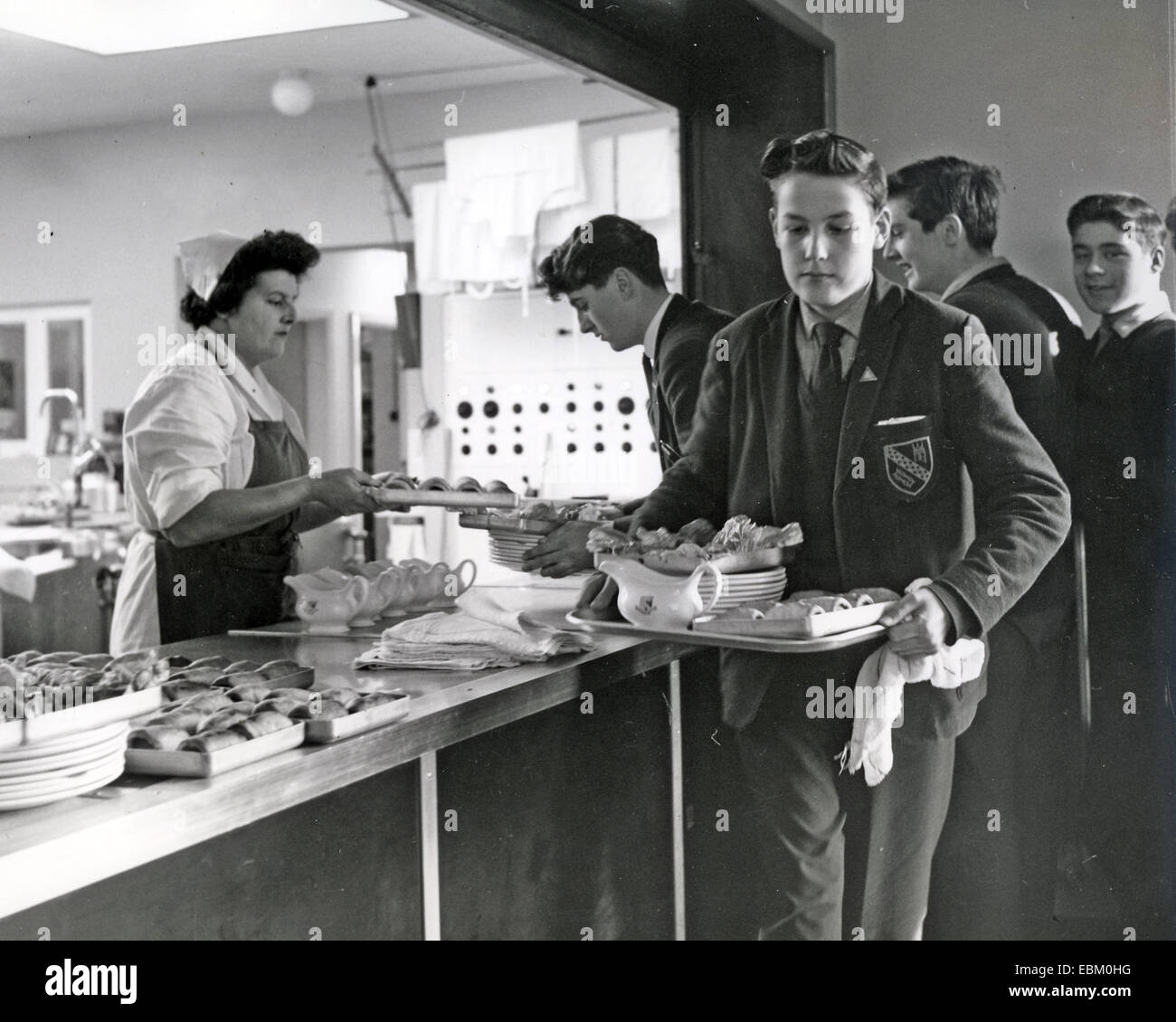 ENGLISH GRAMMAR SCHOOL about 1970 Stock Photo