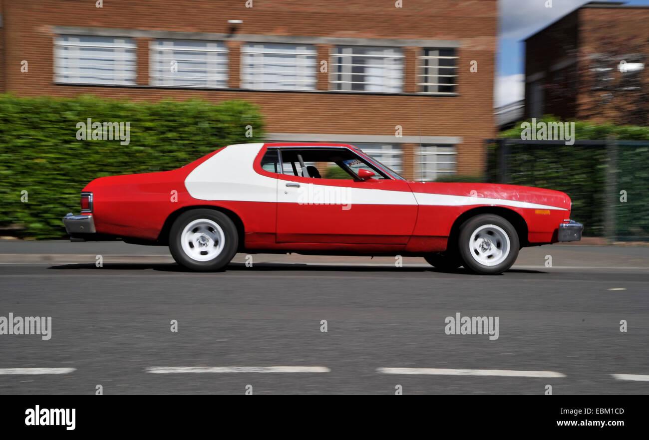 Ford Gran Torino, Starsky and Hutch replica car Stock Photo ... Ford Gran Torino on ford mustang, plymouth road runner, pontiac firebird, chevrolet camaro, dodge challenger, ford torino body styles, ford granada, ford gt40, ford elite, ford galaxie, ford raptor, ford bronco, chevrolet chevelle, ford torino 500, mercury cougar, ford thunderbird, ford excursion, amc rebel, ford torino shelby, mercury comet, muscle car, ford pinto, ford maverick, plymouth barracuda, ford ranchero, ford nascar wood brothers torino, plymouth superbird, ford falcon, ford crown victoria, ford fairlane, ford torino motor, dodge charger, pontiac gto, buick skylark, amc javelin,