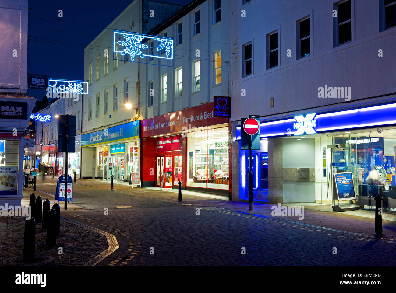 King Street in Whitehaven, West Cumbria, England UK - Stock Image