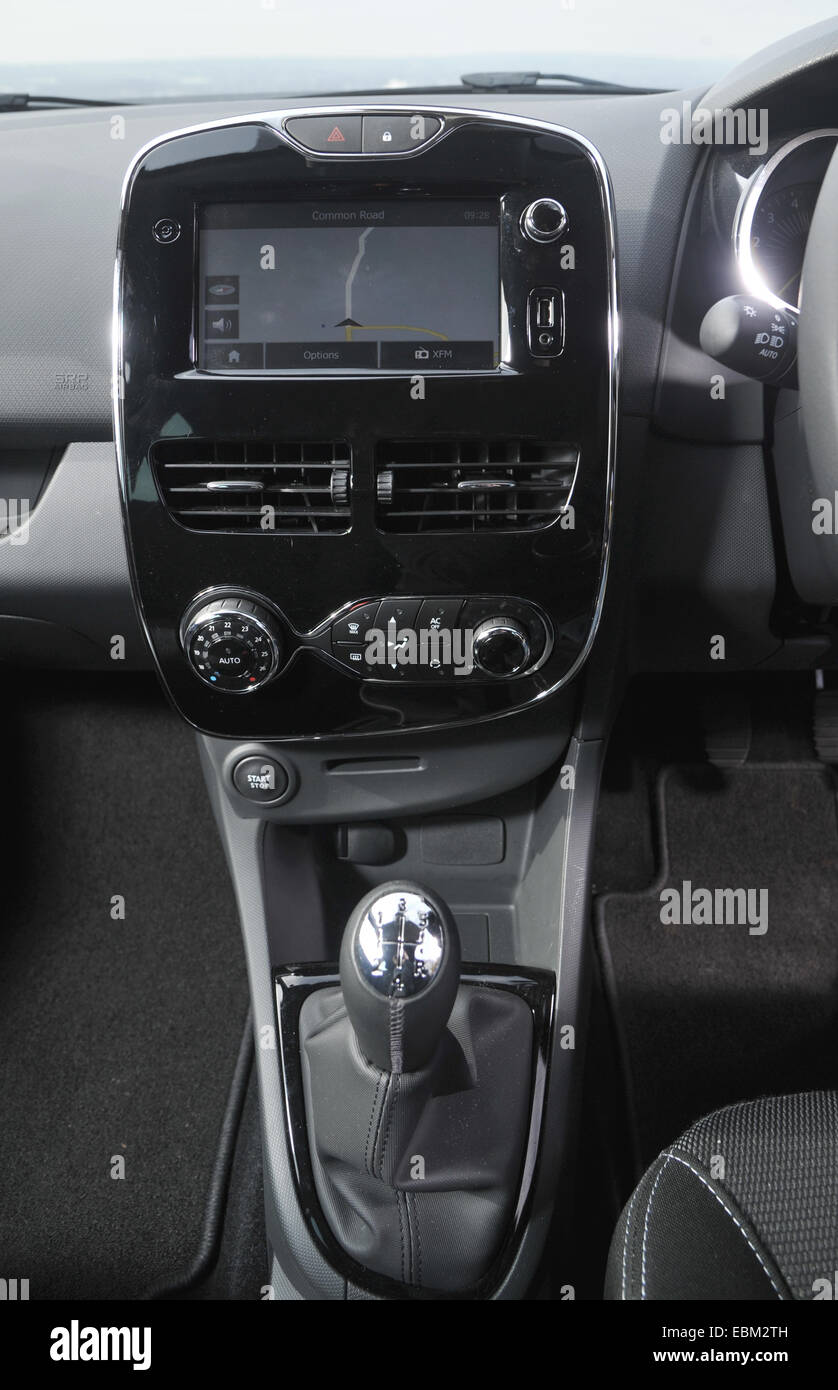 2013 Renault Clio small French hatchback car sat nav and manual gear stick