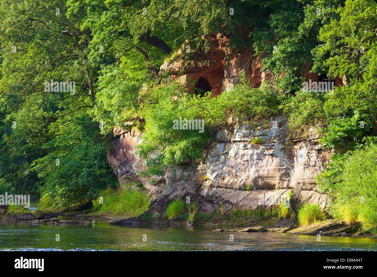 Lacy's Caves. Eden Lacy, Eden Valley, Cumbria, England, UK. - Stock Image