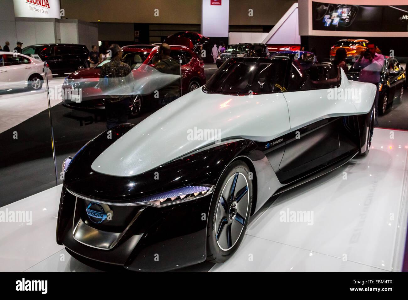 The Nissan Blade Glider all electric concept car at the 2014 Los Angeles Auto Show - Stock Image