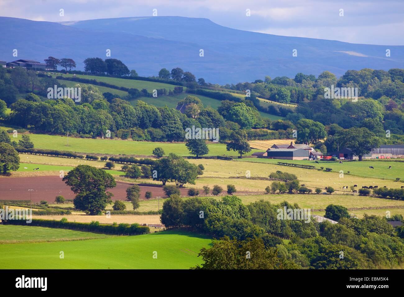 Eden Valley, Cumbria, Settle to Carlisle Railway Line, England, UK. - Stock Image