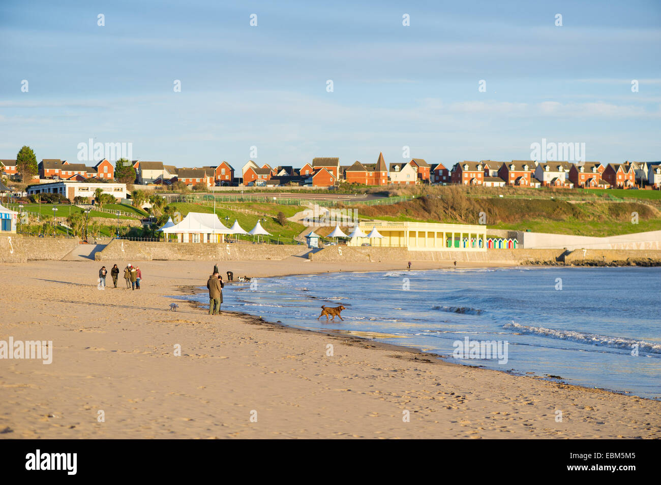 The beach at Barry Island, Wales, UK. Stock Photo