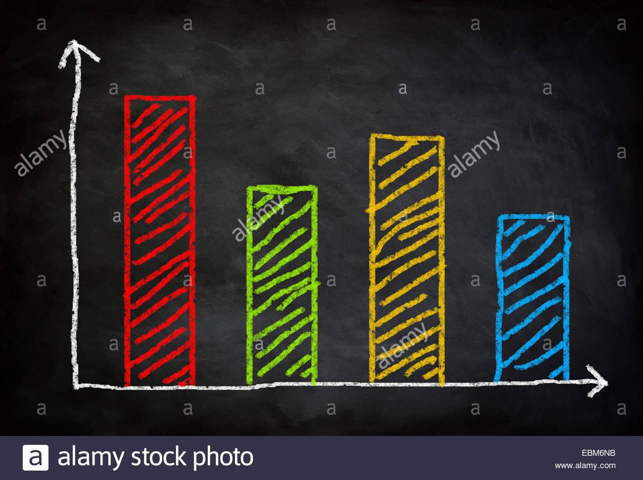 Chart diagram concept - Stock Image