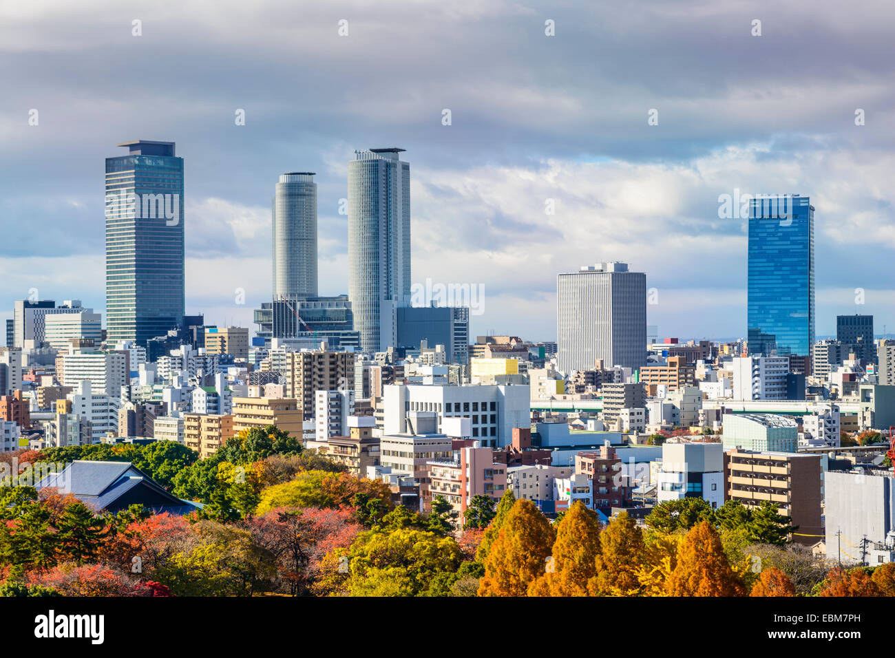 Nagoya, Japan downtown city skyline in the autumn. - Stock Image
