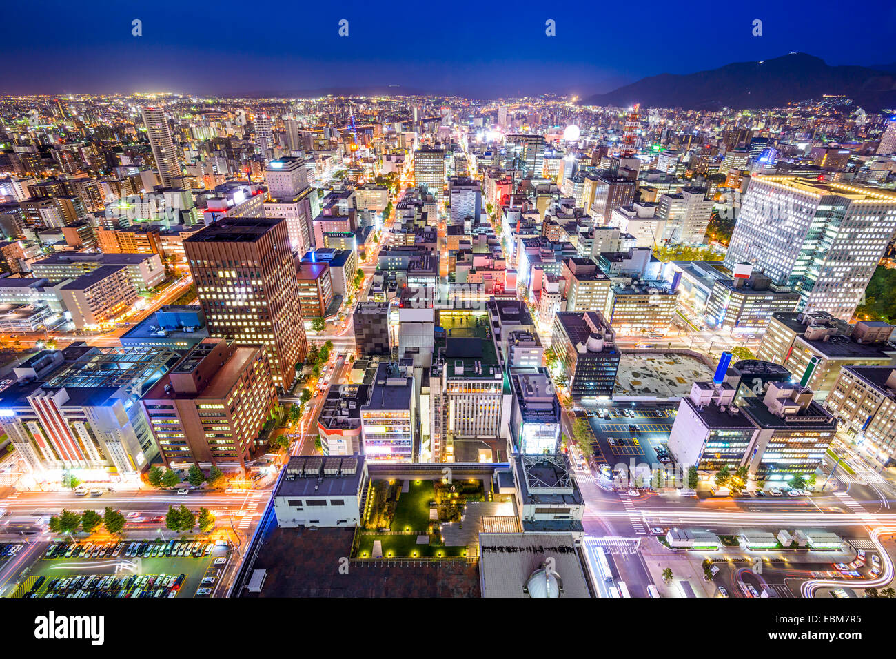 Sapporo, Hokkaido, Japan cityscape in the Chuo Central Ward. - Stock Image