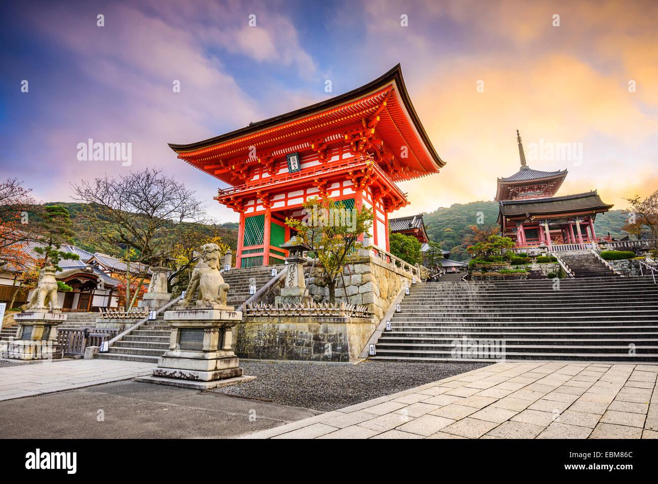 Kyoto, Japan at Kiyomizu-dera Temple. - Stock Image