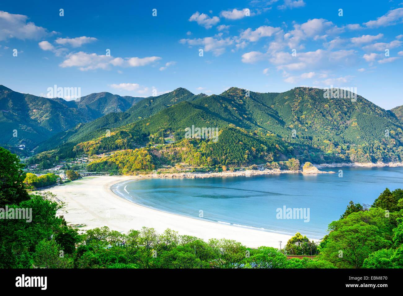 Atashika Beach, Kumano City, Japan. Stock Photo