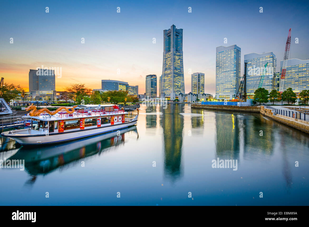 Yokohama, Japan cityscape at Minato-Mirai waterfront. - Stock Image