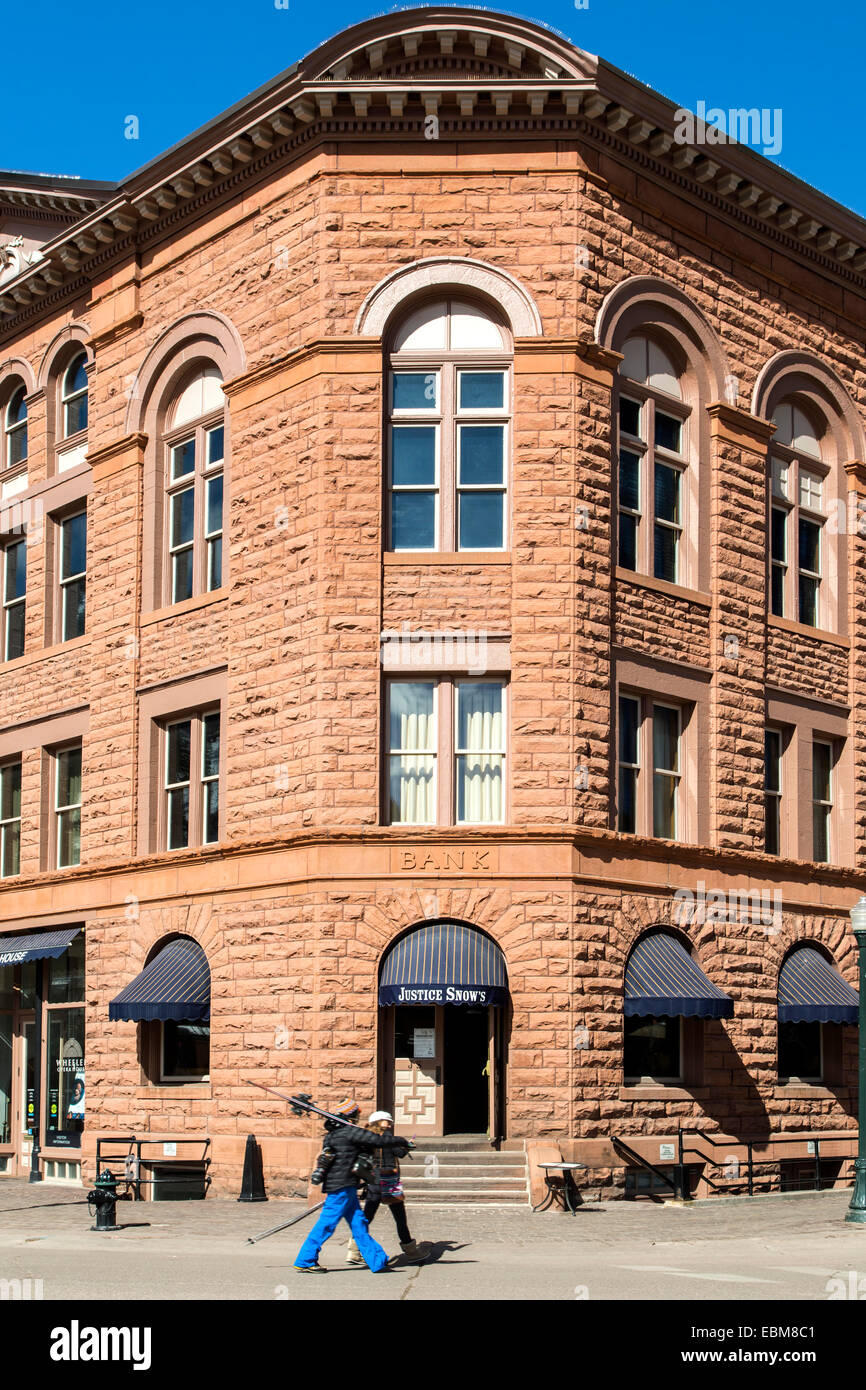 Justice Snow's Bar & Restaurant, Aspen, Colorado USA - Stock Image