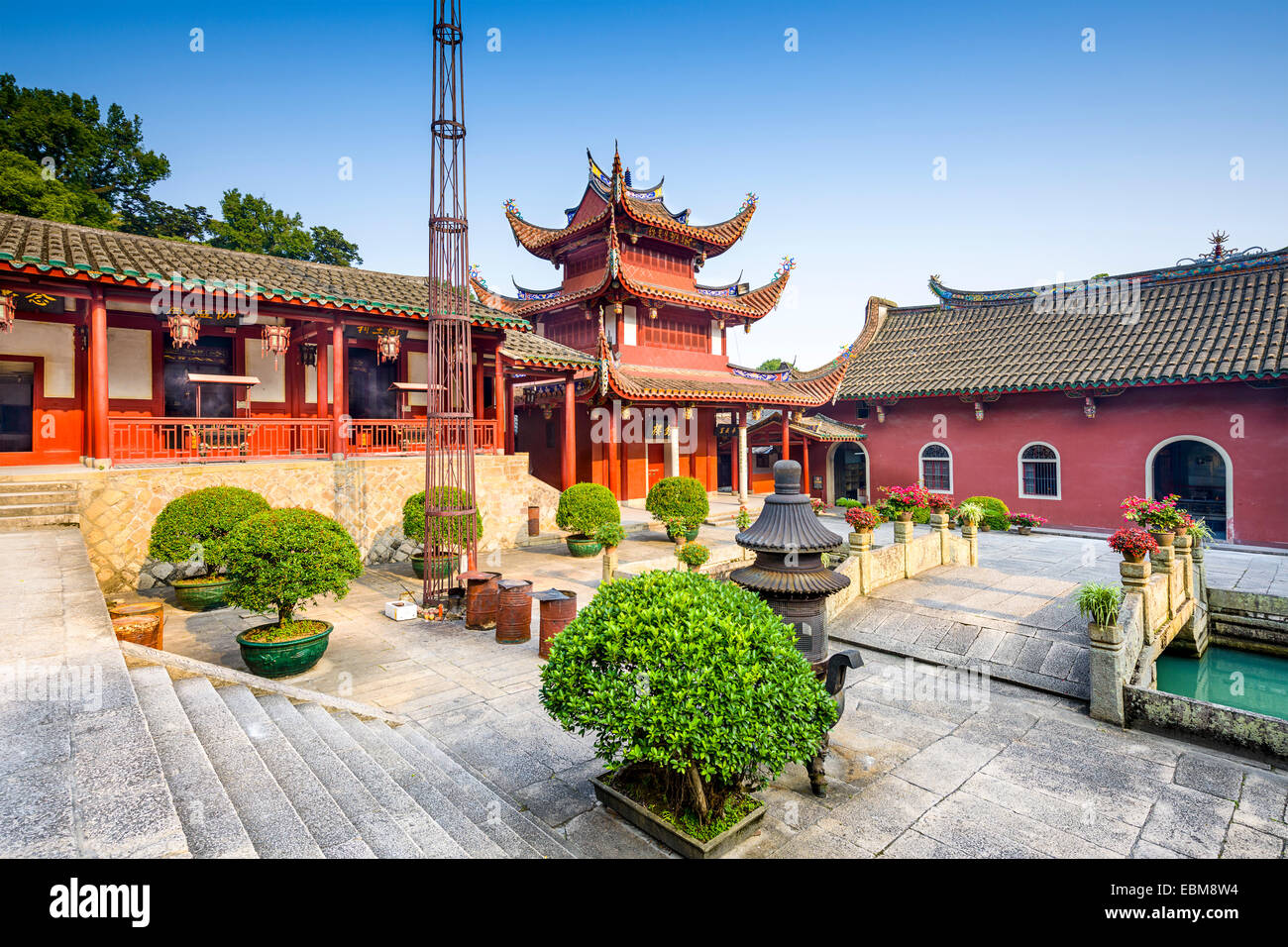 Fuzhou, Fujian at Yongquan Temple on Gu Shan Mountain. - Stock Image