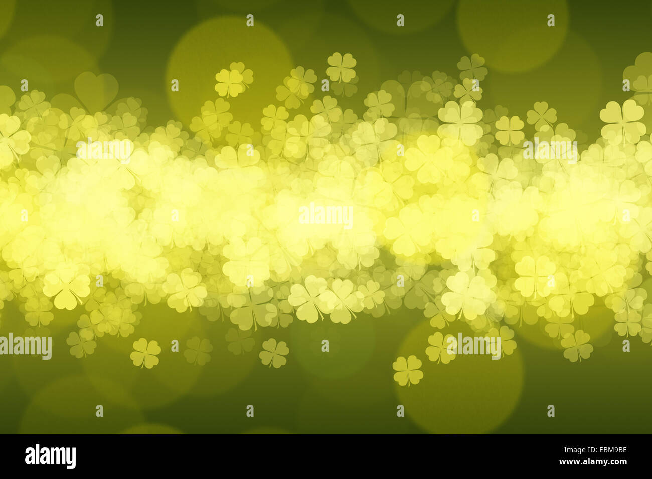 St. Patrick's day green grungy background. - Stock Image