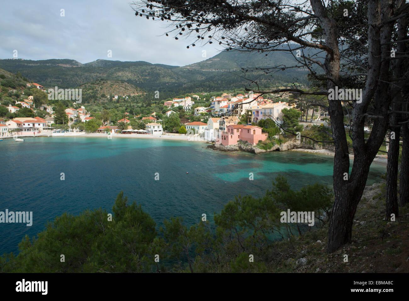 Assos Harbour, Kefalonia. Stock Photo