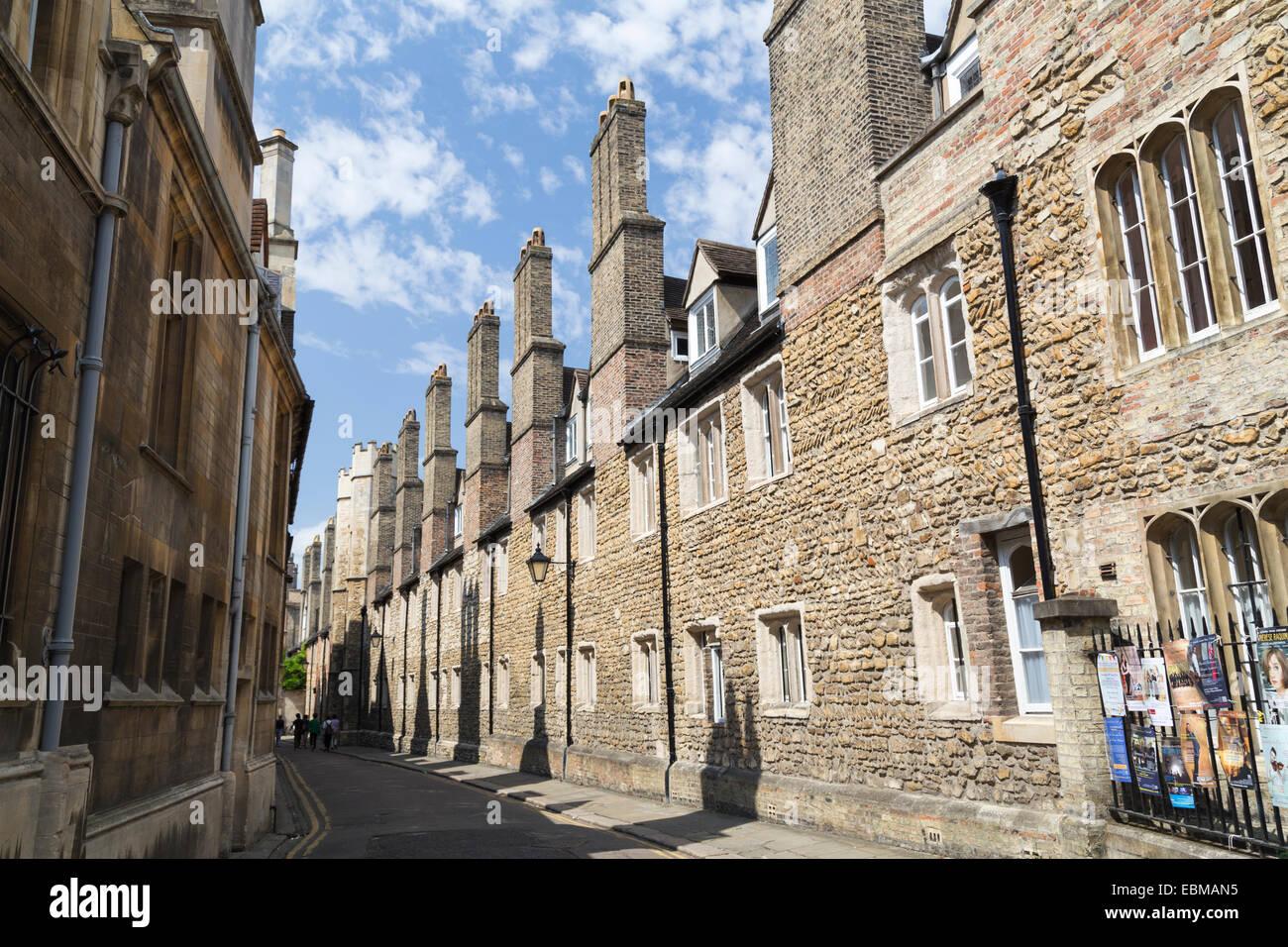 UK, Cambridge, Trinity Lane and Trinity college buildings. - Stock Image