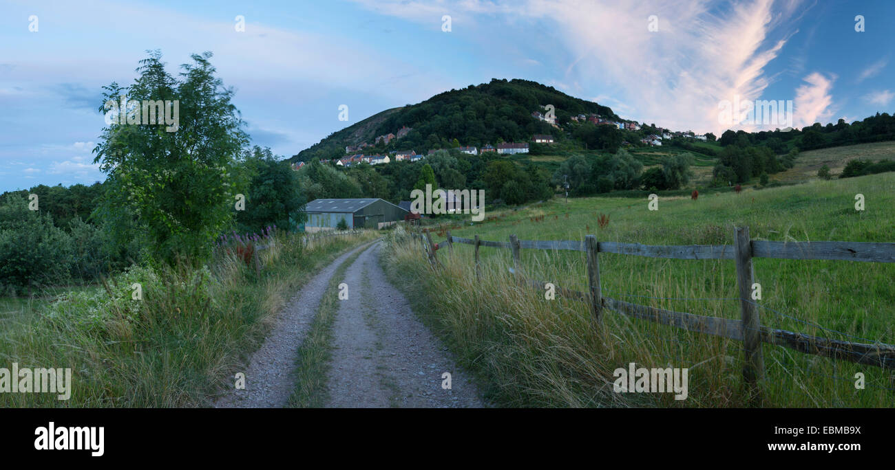A track leads up to North Hill, Malvern Hills, Worcestershire Stock Photo