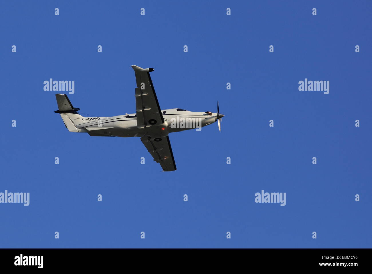 Pilatus PC-12 C-GMPO owned by RCMP, July 23, 2013 - Stock Image