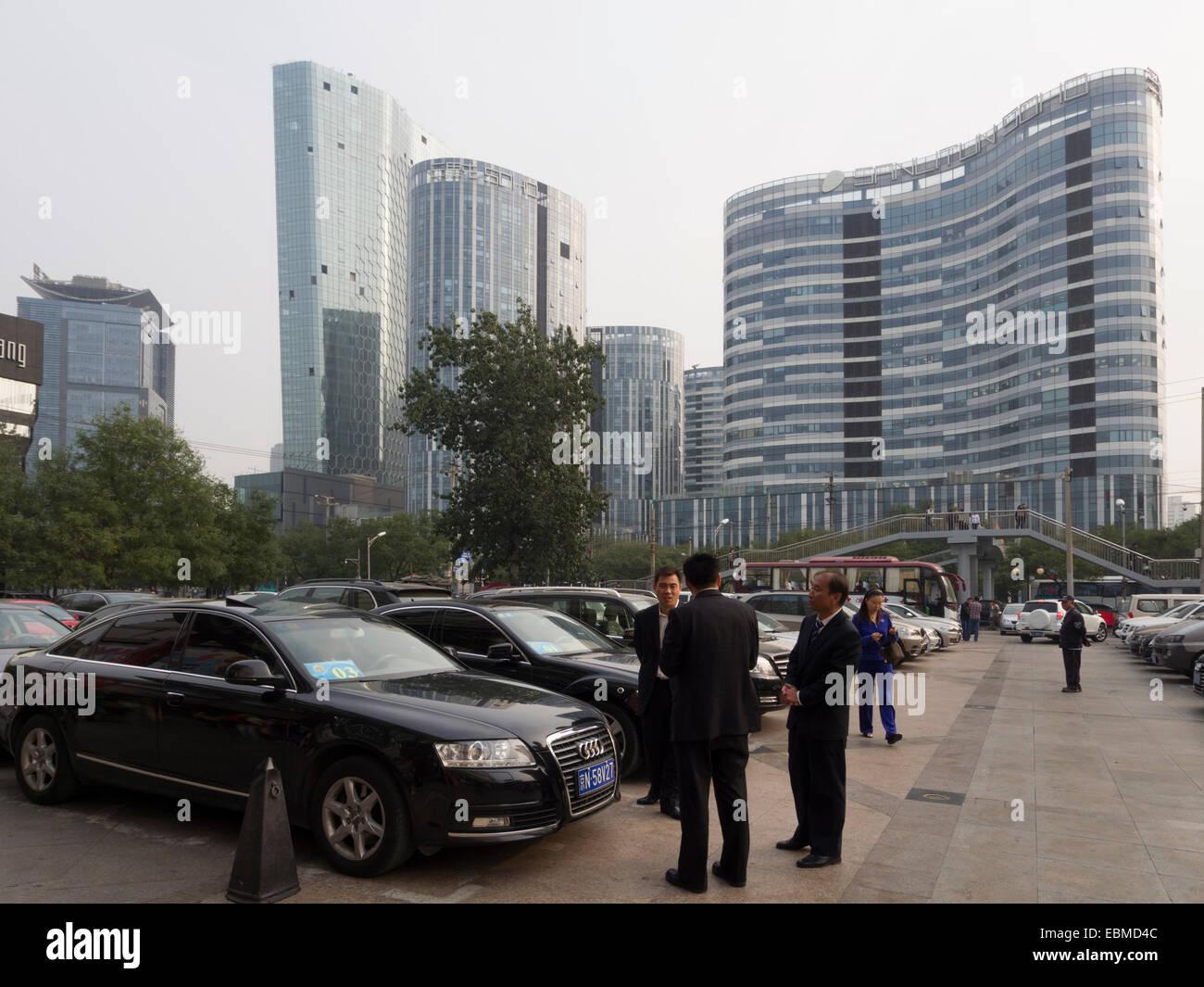 Modern buildings in the Sanlitun Soho in Beijing, China - Stock Image