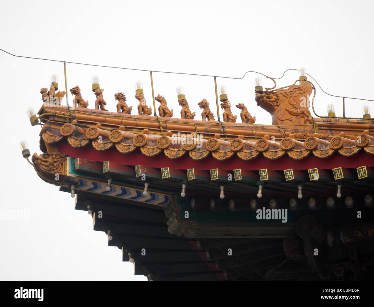 chinese imperial roof decorations stock photo 76052083 alamy